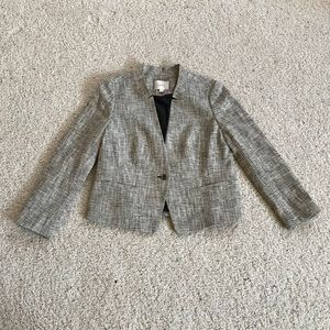 New, Ann Taylor LOFT, Black & Tan Tweed Blazer!